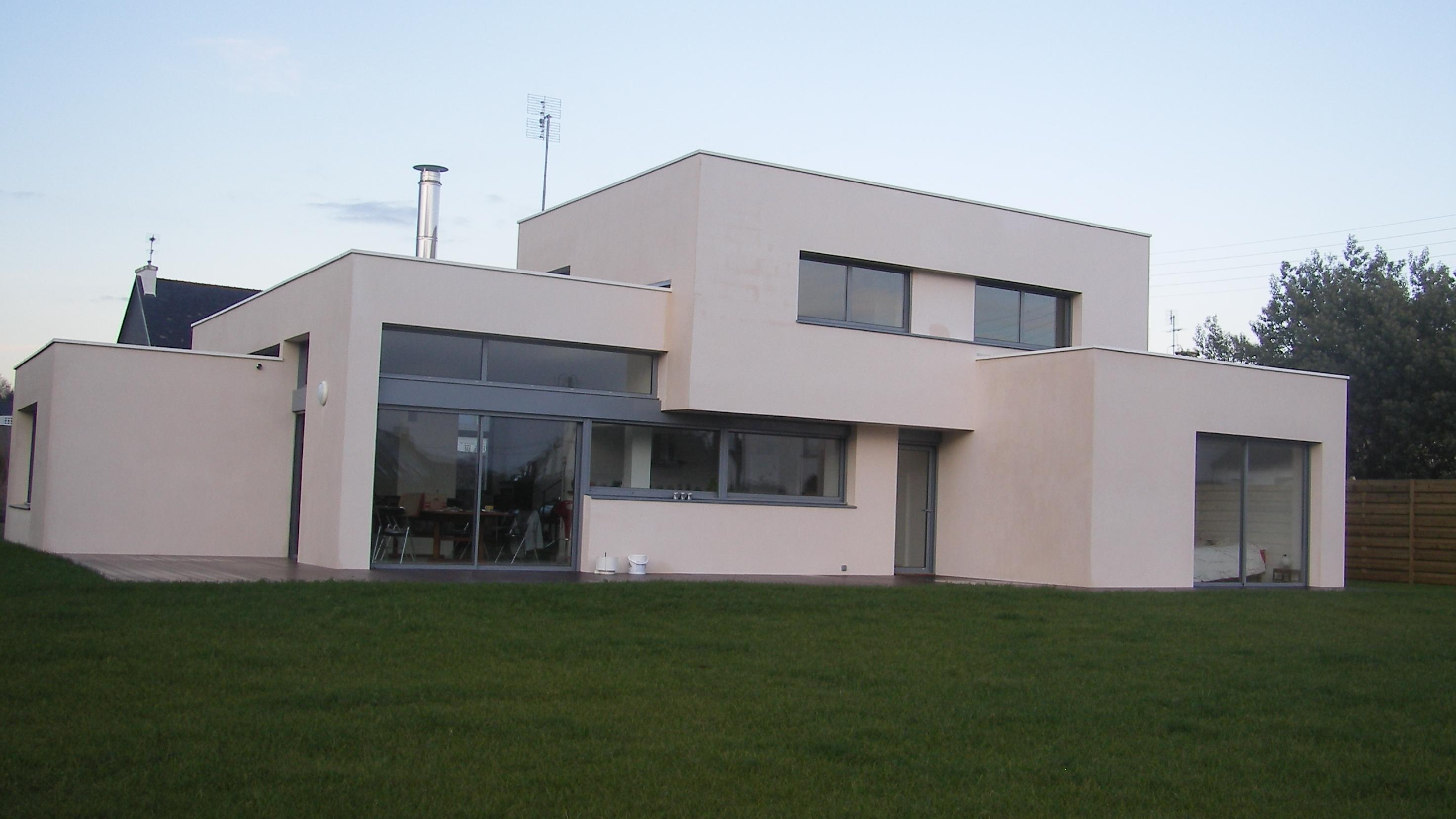 maison ch atelier du pich ry architectes quimper. Black Bedroom Furniture Sets. Home Design Ideas